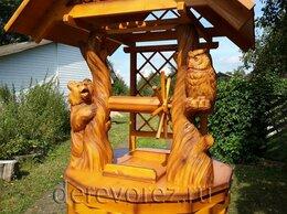 Садовые фигуры и цветочницы - Домик для колодца с медведем и совой, 0