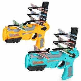 Игрушечное оружие и бластеры - Пистолет катапульта с летающими самолетами air battle, 0