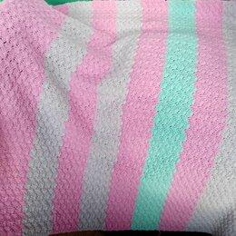 Пледы и покрывала - Плед выполнен крючком ,разноцветными полосами, 0