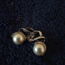 Серьги - Серебрянные с жемчугом, 0