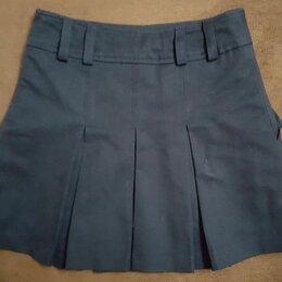 Юбки - Школьная юбка для девочки с кармашками, 0