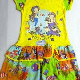 Платья и юбки - Детское платье из желтой кулирки, 0