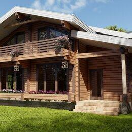 Готовые строения - Двухэтажный дом шале из профилированного бруса (домокомплект), 0