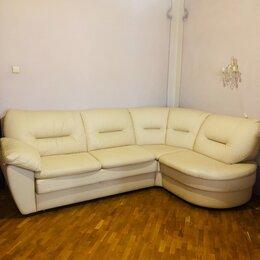 Диваны и кушетки - Угловой кожаный диван ланкастер, 0
