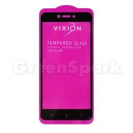 Защитные пленки и стекла - Защитное стекло 3D для Xiaomi Redmi 4X (черный) (VIXION), 0