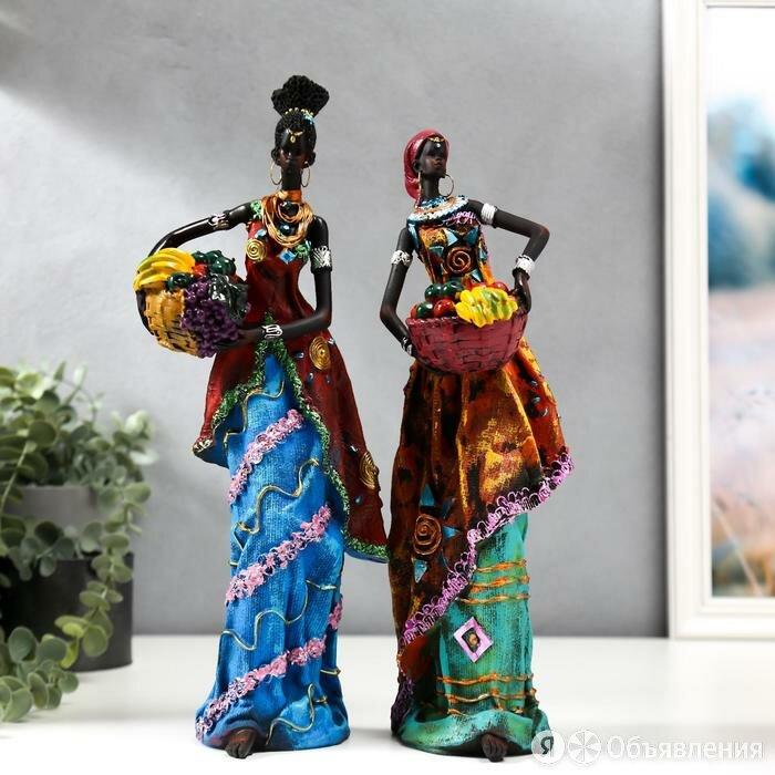 Сувенир полистоун 'Африканка в цветном платье, с корзиной фруктов' МИКС 32,5х... по цене 1819₽ - Статуэтки и фигурки, фото 0
