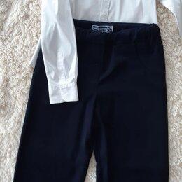 Комплекты и форма - Брюки,блузка и жакет для девочки 134 размер,темно синего цвета, 0