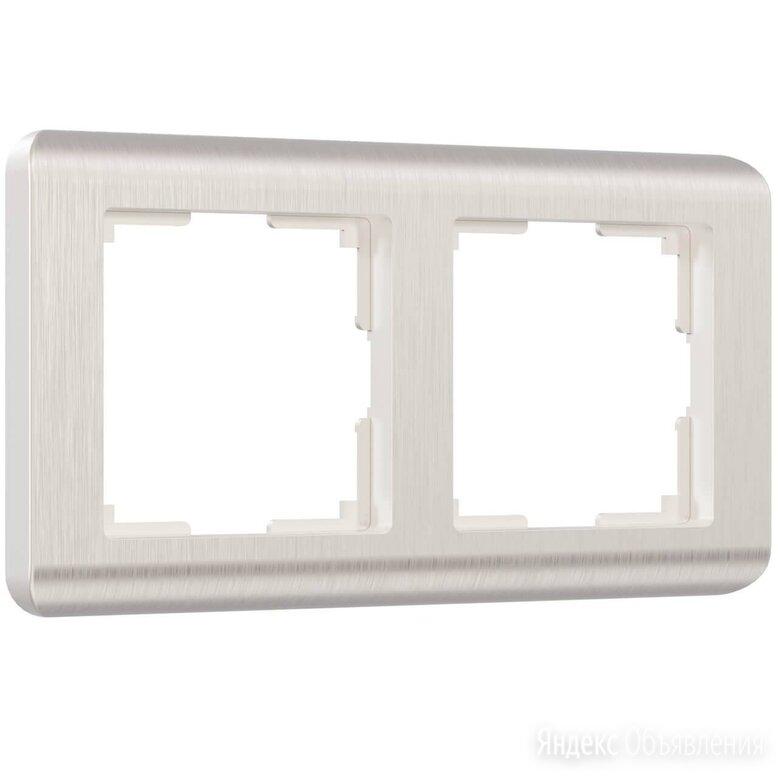Рамка на 2 поста Werkel Stream перламутровый W0022113 4690389162251 по цене 325₽ - Электроустановочные изделия, фото 0