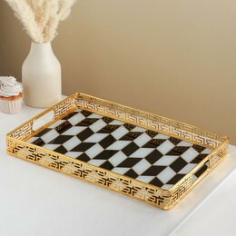 Подставки и держатели - Подставка для десертов 'Шахматы', 43x29,5x5 см, 0
