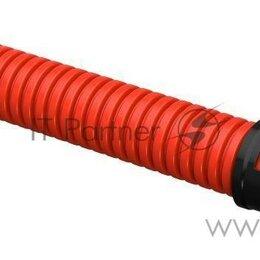 Водопроводные трубы и фитинги - Труба гофрированная двустенная ПНД D40мм с муфтой Sn20 красн. (уп.50м) Iek Ct..., 0