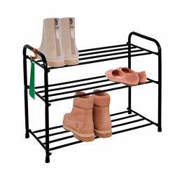 Обувницы - Подставка для обуви Обувница металлическая 3 полки, 0