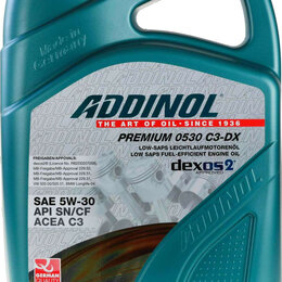 Масла, технические жидкости и химия - Масло моторное ADDINOL Premium 0530 C3-DX 5W-30 Dexos 2, 5L, 0