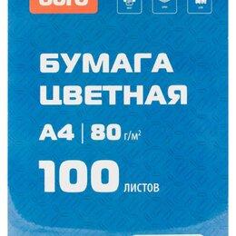 Бумага и пленка - Бумага Buro A4/80г/м2/100л./зеленый пастель, 0