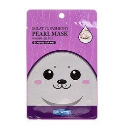 Маски - Маска тканевая с экстрактом жемчуга Milatte Fashiony Pearl Mask Sheet, 21 гр, 0