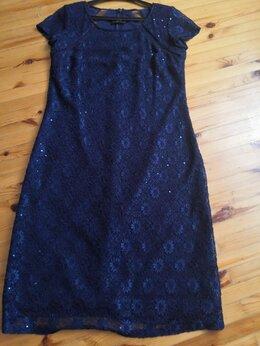 Платья - Платье кружевное, красивое, синее с пайетками…, 0