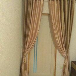 Шторы - Пудровые бархатные шторы, 0