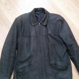 Куртки - Куртка мужская классическая р. 50-52 натуральная кожа Ю. Корея, 0