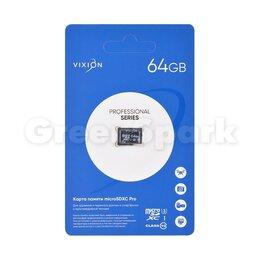 Карты памяти - Карта памяти MicroSDXC Pro 64GB VIXION Class 10 UHS-I U3 без адаптера , 0