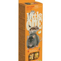 Игрушки и декор  - LITTLE ONE Палочки для хомяков, крыс, мышей и песчанок с ягодами , 0