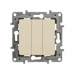 Концевые, позиционные и шарнирные выключатели - Legrand 672313 Выключатель 3-кл. сл. кость ETIKA, 0