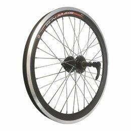Обода и велосипедные колёса в сборе - Колесо велосипедное TBS 24 заднее, алюминий, двойной обод, чёрный, с промподши, 0