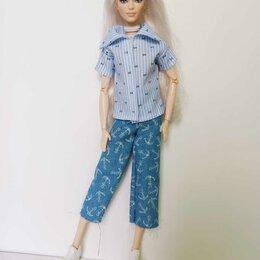 Аксессуары для кукол - Рубашка и джинсы для Барби., 0