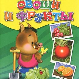 Дидактические карточки - Карточки Проф-Пресс обучающие Овощи и фрукты, 16 штук 077870, 0