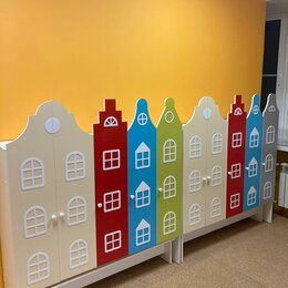 Мебель для учреждений - Шкафы в раздевалку детского сада. Шкафчики в садик, 0