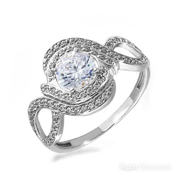 """Кольцо посеребрение """"Красота"""" 20-05757, цвет белый в серебре, размер 18 по цене 1485₽ - Кольца и перстни, фото 0"""