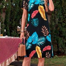 Платья - Платье (вискоза) с тропическими листьями, р. 52-54, 0