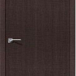 Межкомнатные двери - Межкомнатная дверь экошпон Porta Z Порта-50 Wenge Crosscut глухое полотно 600..., 0