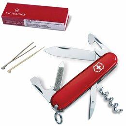 Ножи и мультитулы - Подарочный нож VICTORINOX «Sportsman», 84 мм, складной, красный, 13 функций, 0.3, 0