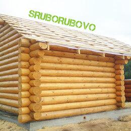 Готовые строения - Сруб для бани с красивой террасой и фронтонами, 0
