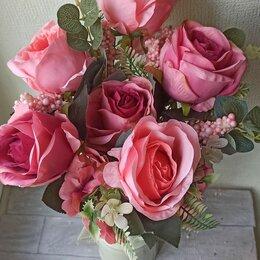 Искусственные растения - Искусственные цветы, крупные розы, 0