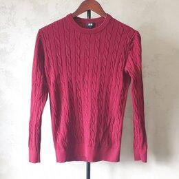 Свитеры и кардиганы - Мужской трикотажный свитер джемпер Uniqlo, 0