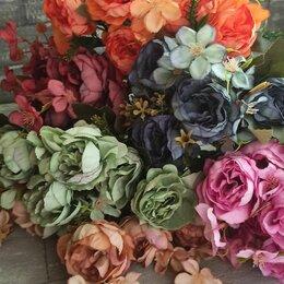 Искусственные растения - Искусственные цветы, пионы средние Ретро, 0
