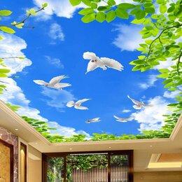 Архитектура, строительство и ремонт - Натяжной потолок небо с голубями, 0