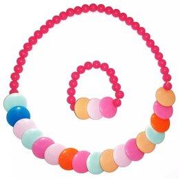 Комплекты - Набор детской бижутерии Бусы + браслет, 0