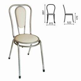 Кресла и стулья - Стул для столовых, кафе, дома РС06, серебристый каркас, кожзам бежевый, 0