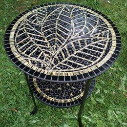Столы и столики - Журнальный столик из мозаики круглый, 0