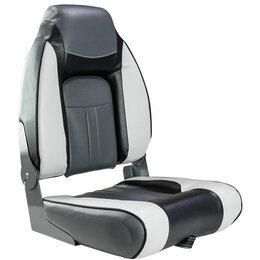 Плетеная мебель - Кресло мягкое складное, обивка винил, цвет серый/угольный/черный, Marine Rocket, 0