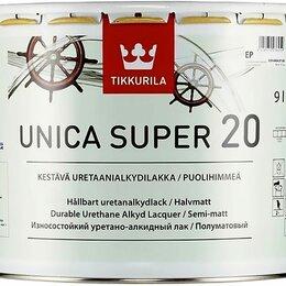 Краски - Лак яхтный 9,0л полуматовый Tikkurila Unica Super 20, 0