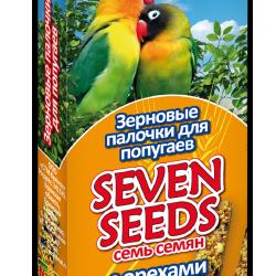 Игрушки и декор  - SEVEN SEEDS Палочки для попугаев с орехами 3шт*22 , 0