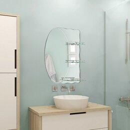 Зеркала - Зеркало в ванную комнату 80×70 см Ассоona A603, 3 полки, 0
