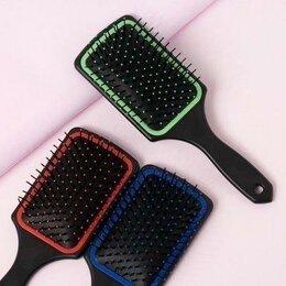 Маски и сыворотки - Расчёска массажная, широкая, цвет микс, 0