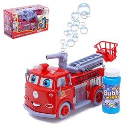 Мыльные пузыри - Машина «Пожарная служба» с мыльными пузырями, световые и звуковые эффекты, ра..., 0