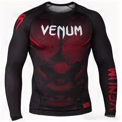 Рашгард venum черно красный по цене 4000₽ - Аксессуары и принадлежности, фото 0