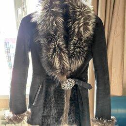 Дубленки - Кожаная куртка с мехом, 0
