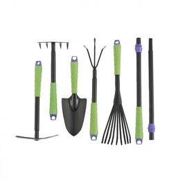 Мини-инструменты - Набор садового инструмента: совок, грабли веерные, рыхлитель, грабли 5-зубые,..., 0