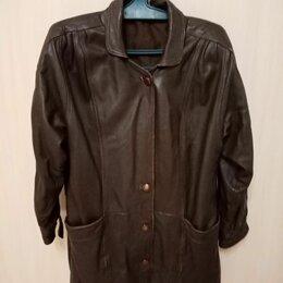 Куртки - Кожаная женская куртка, 0